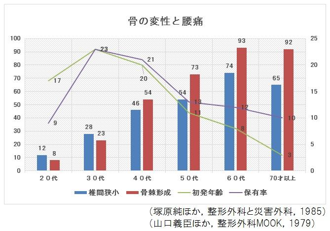 【グラフ】骨の変性と腰痛